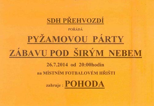 pyžamová párty 2014